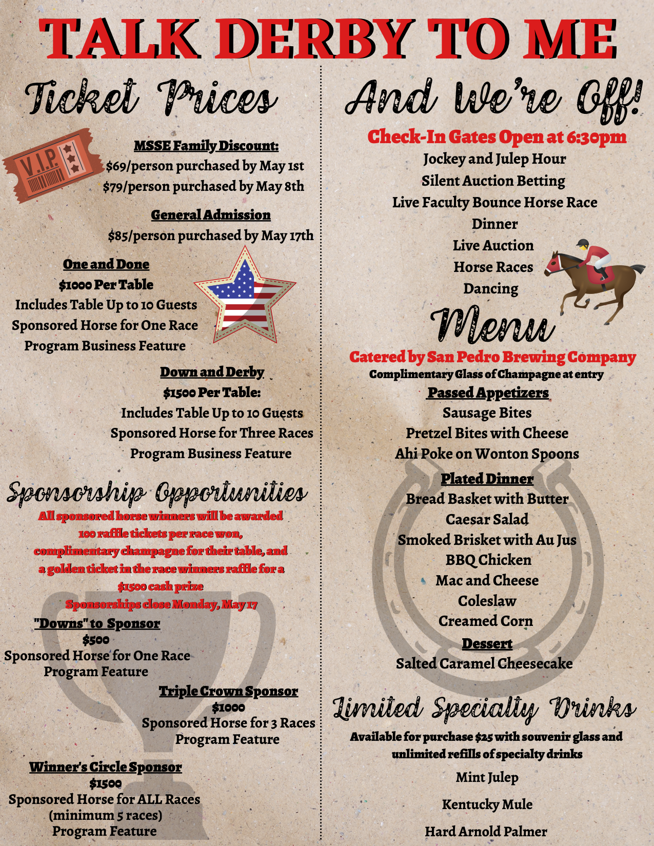 Night at Races Flyer