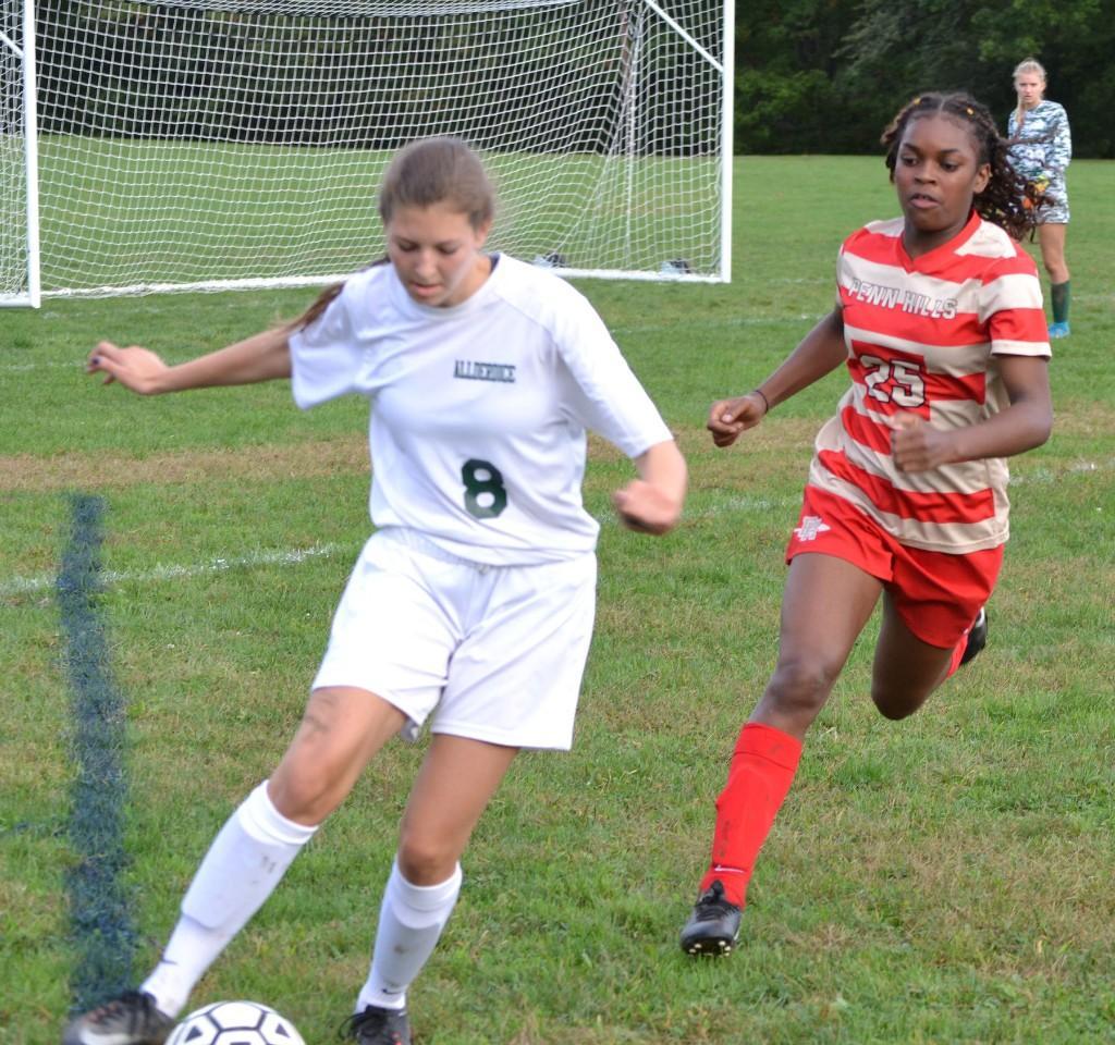 JV Girls' Soccer vs Allderdice - 101217
