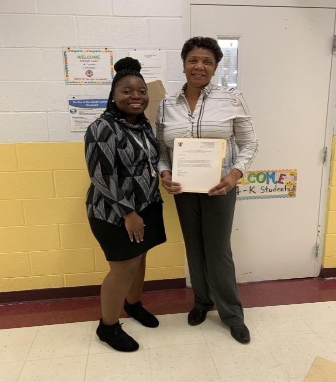 Dr. Bradley and Mrs.Simon-Classified Employee of the Month