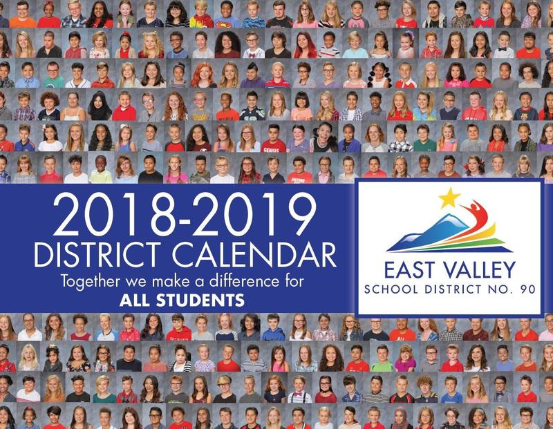 2018-2019 Calendar cover with pictures of all students.