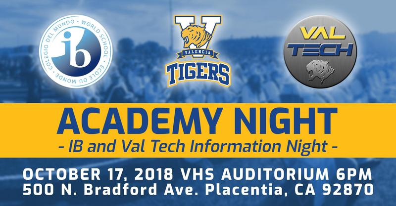 Academy Night October 17th in the Auditorium at 6PM Thumbnail Image