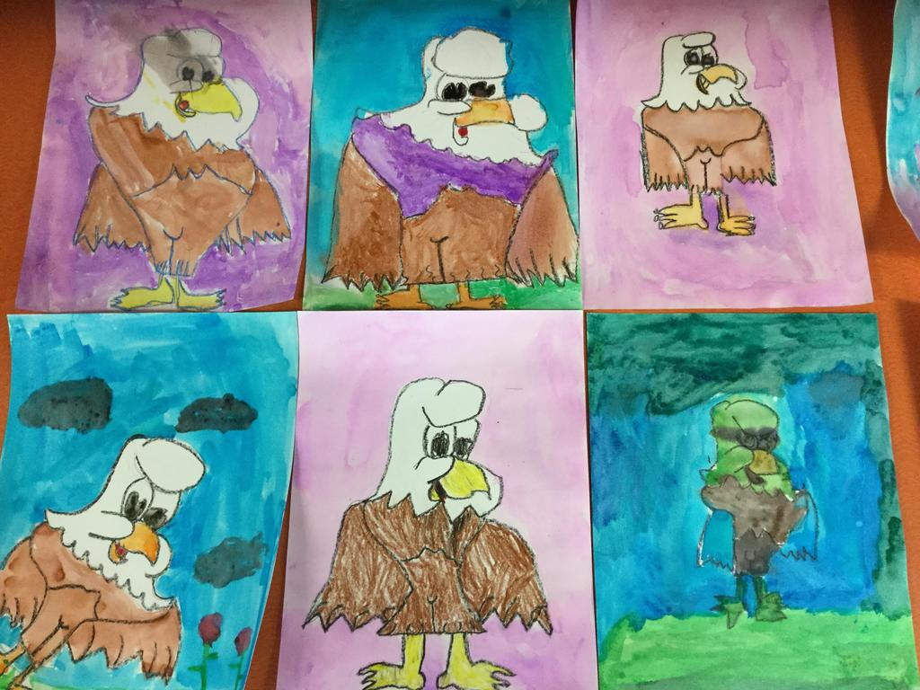 water color eagles