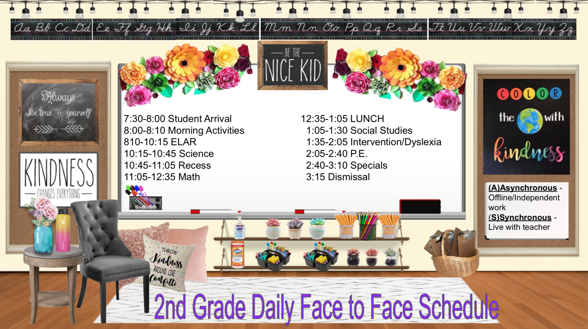 Second grade face to face schedule