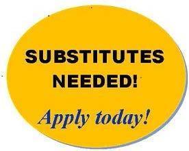 Substitutes needed