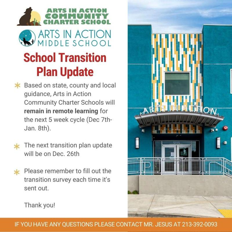 School Transition Plan Update/ Actualización del plan de transición escolar Thumbnail Image