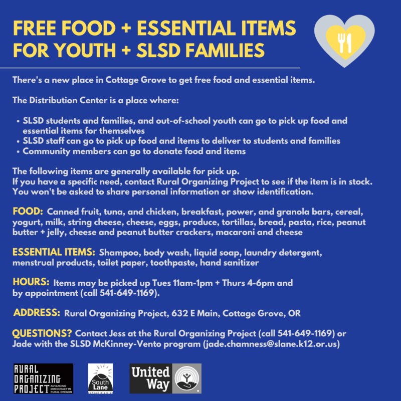 Free food + essential items for youth + SLSD families Featured Photo