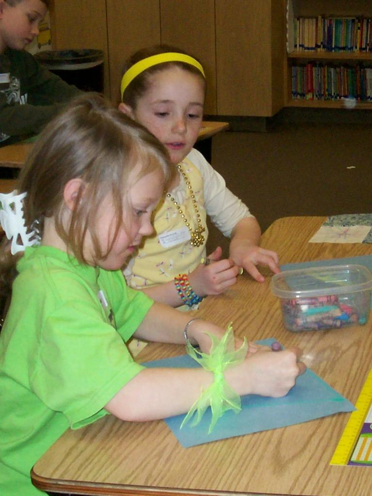 two students color