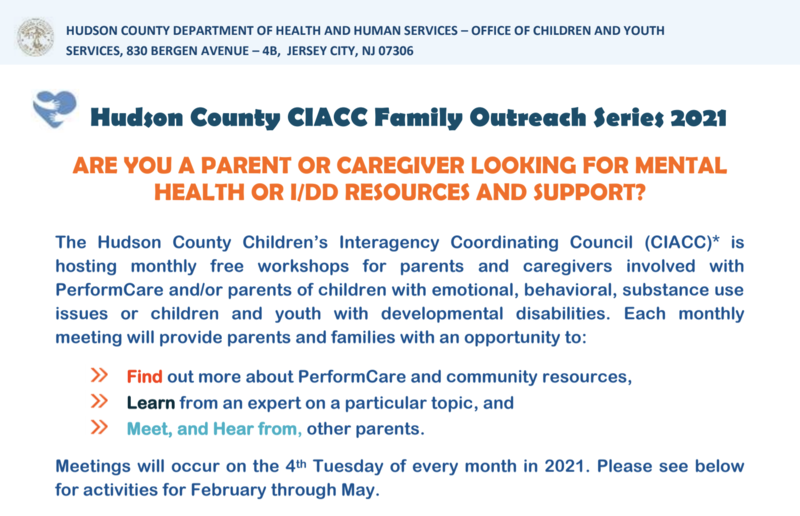 Hudson County CIACC Family Outreach Series 2021 Featured Photo