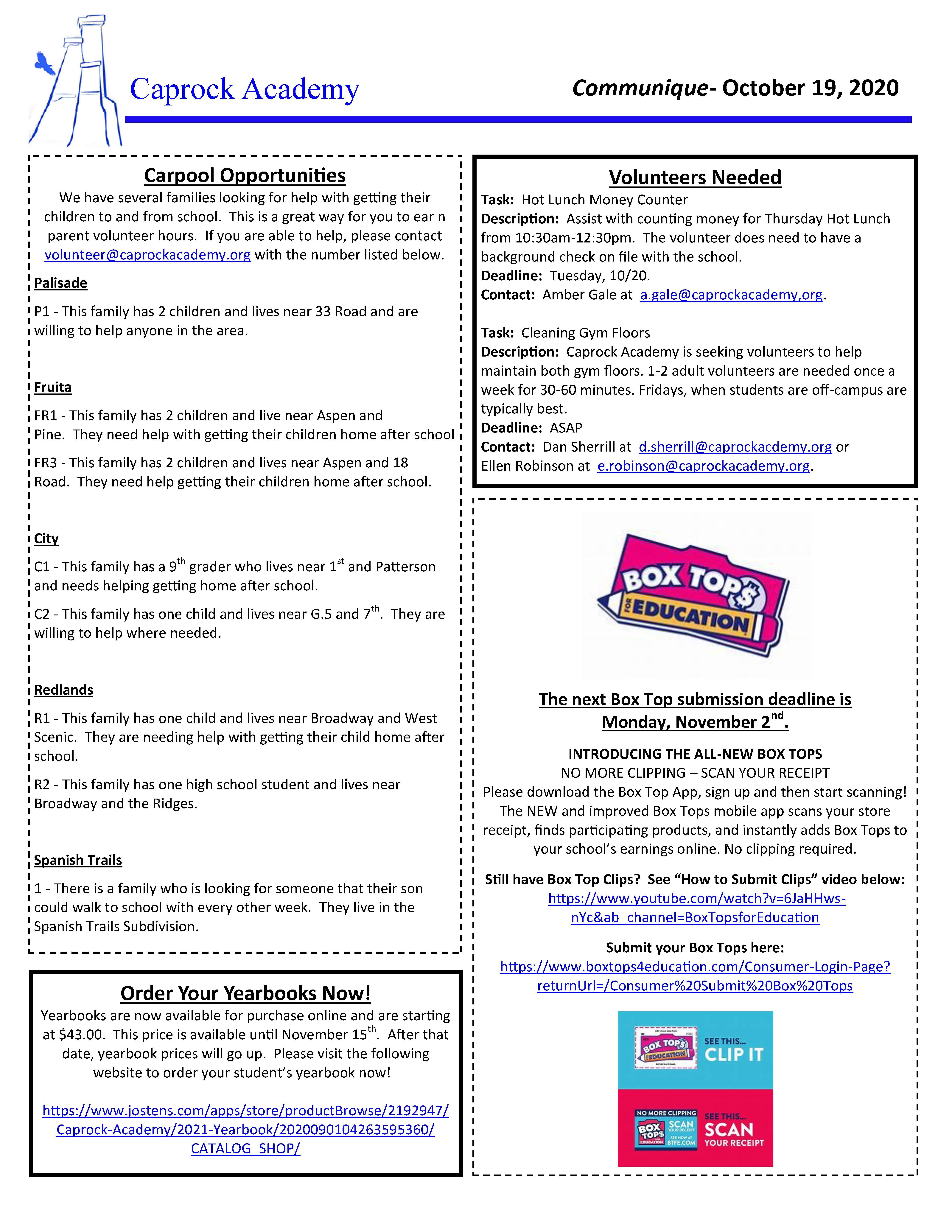 Communique 10-19-20 page 2 of 2