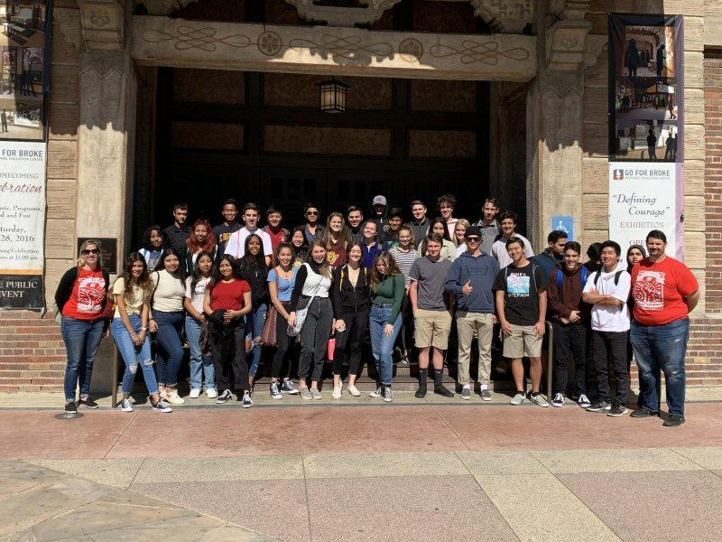 IB Class of 2020 at the Go For Broke National Education Center in Little Tokyo, Los Angeles