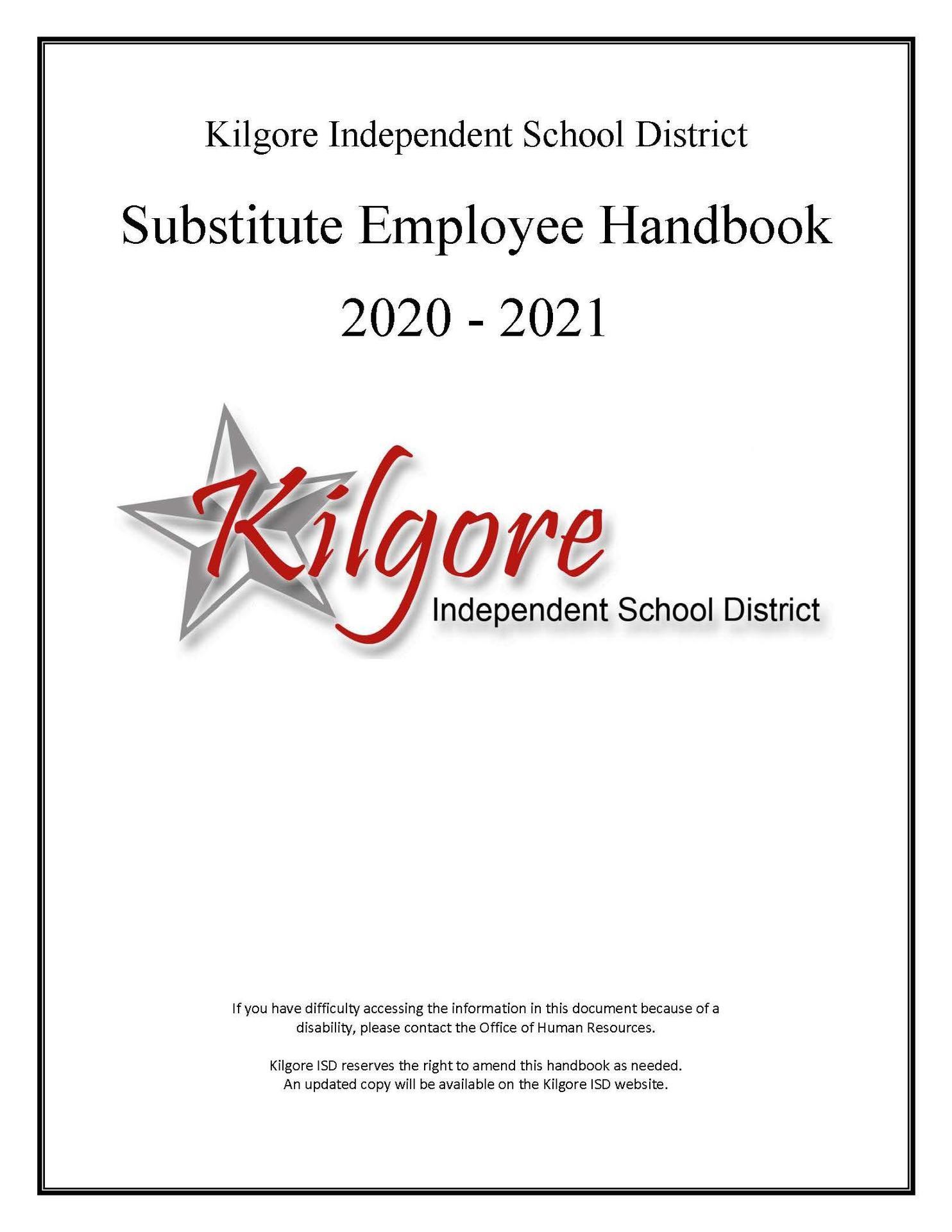 2020-2021 Substitute Handbook
