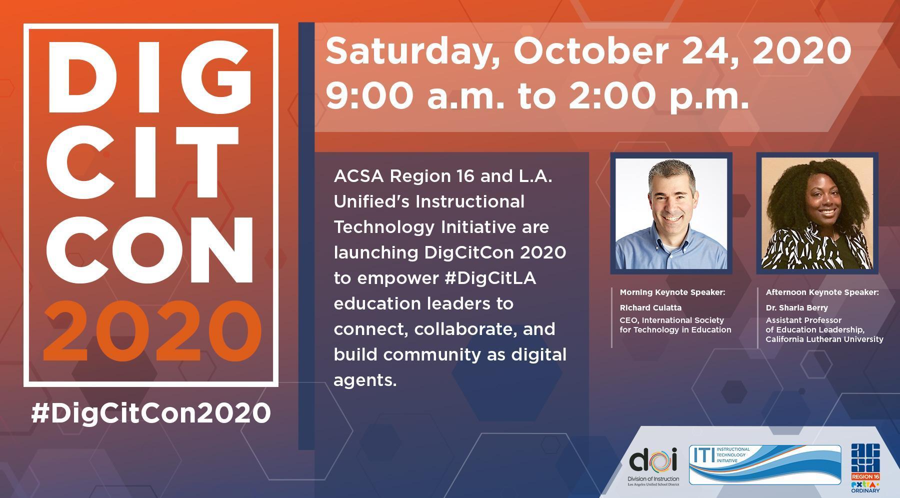 #DigCitCon2020 Saturday, October 24, 2020 Image