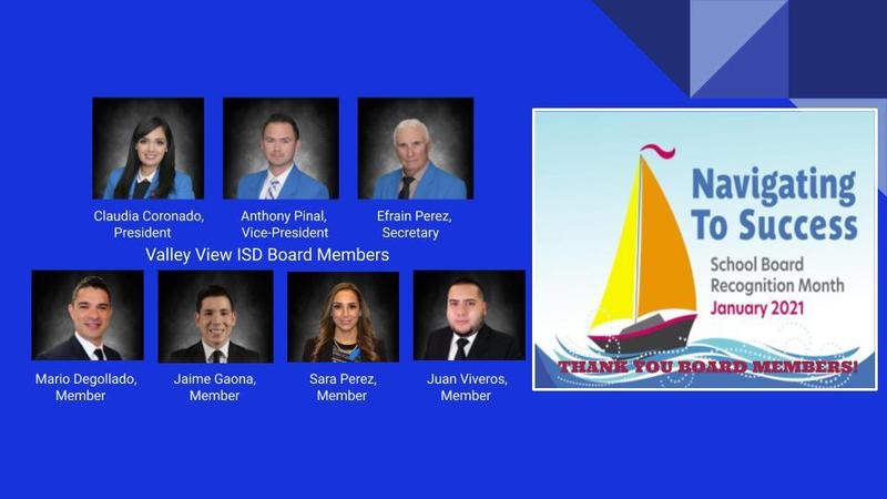 School Board Recognition Month: Thank you Valley View ISD Board Members! Thumbnail Image