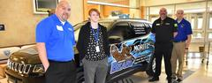 Brewer Senior Wins New Jeep for Achieving Perfect Attendance