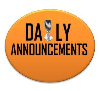 CMS Daily Announcements