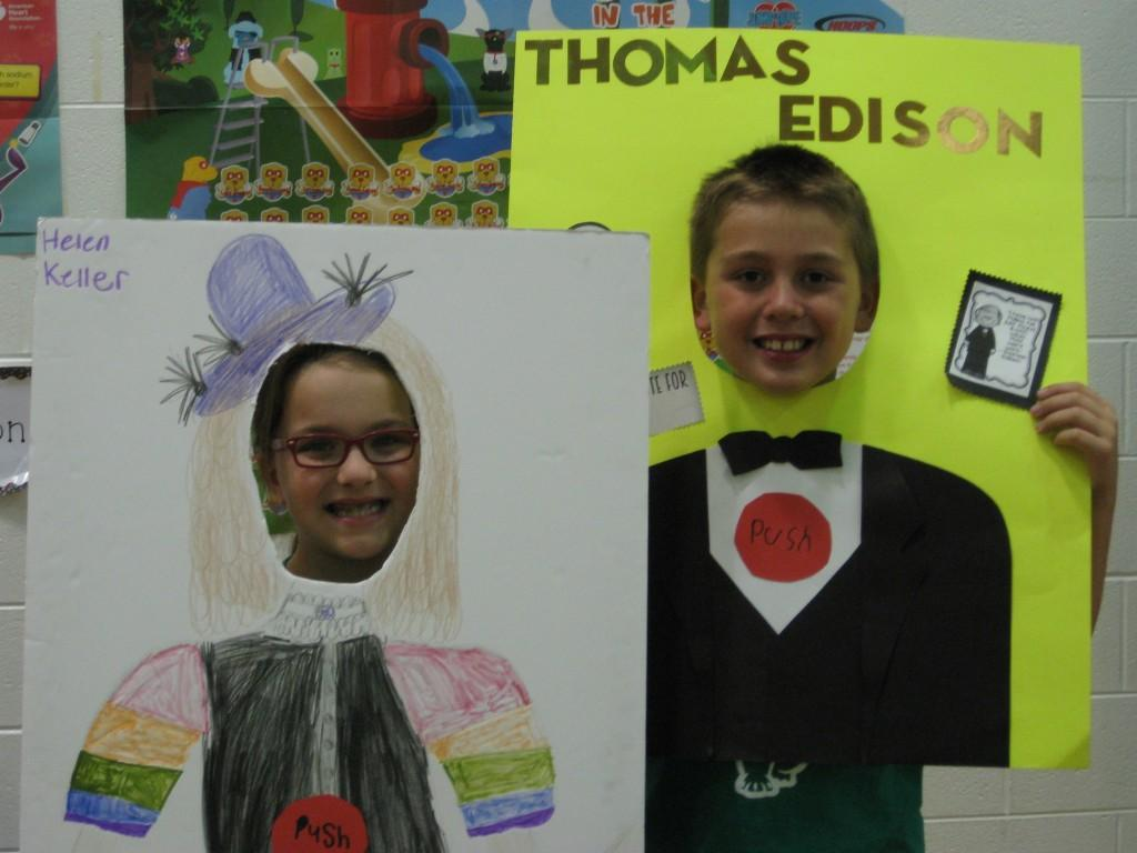 Wax Museum-Helen Keller and Thomas Edison