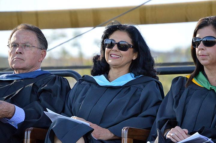 Dignitaries at graduation