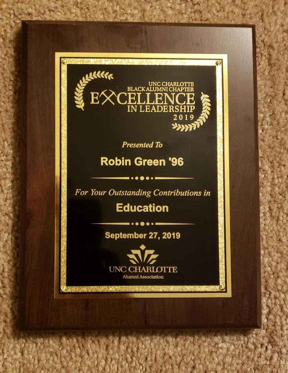 plaque/award of excellence