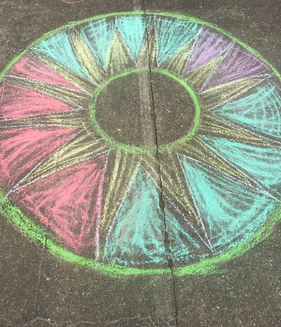 Chalk art done by 5th graders