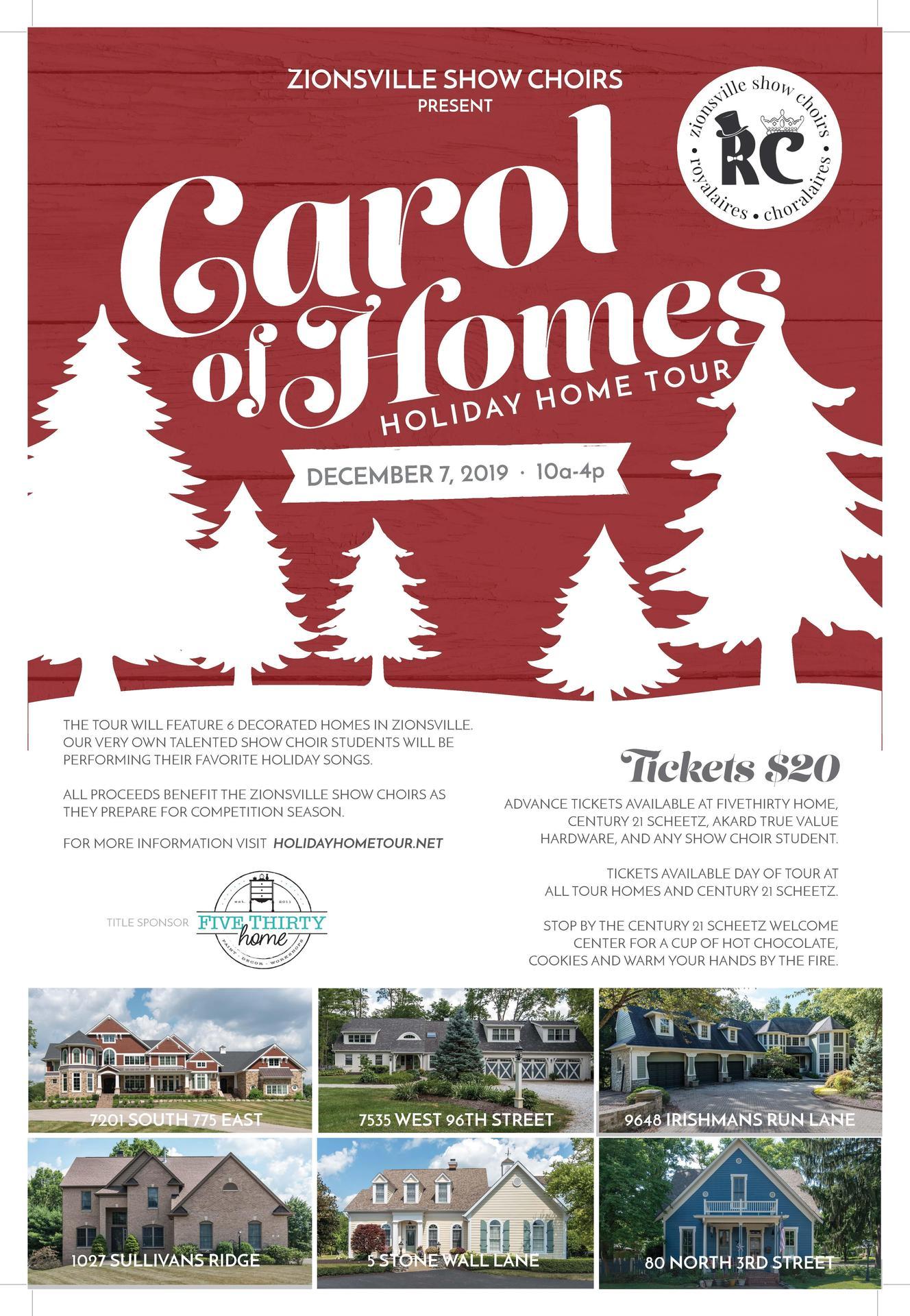 ZCHS Show Choirs Carol of Homes 2019