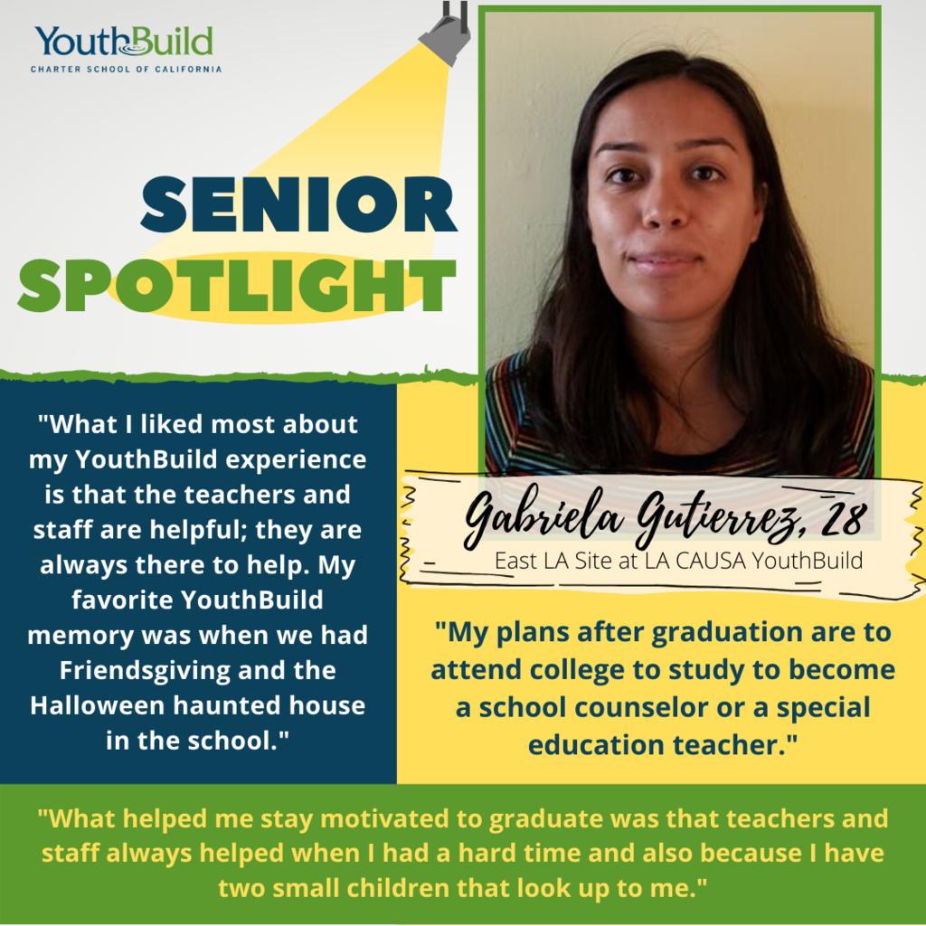 Senior Spotlight for graduate Gabriela Gutierrez