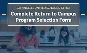 LAUSD Return to Campus - Program Selection Form Featured Photo