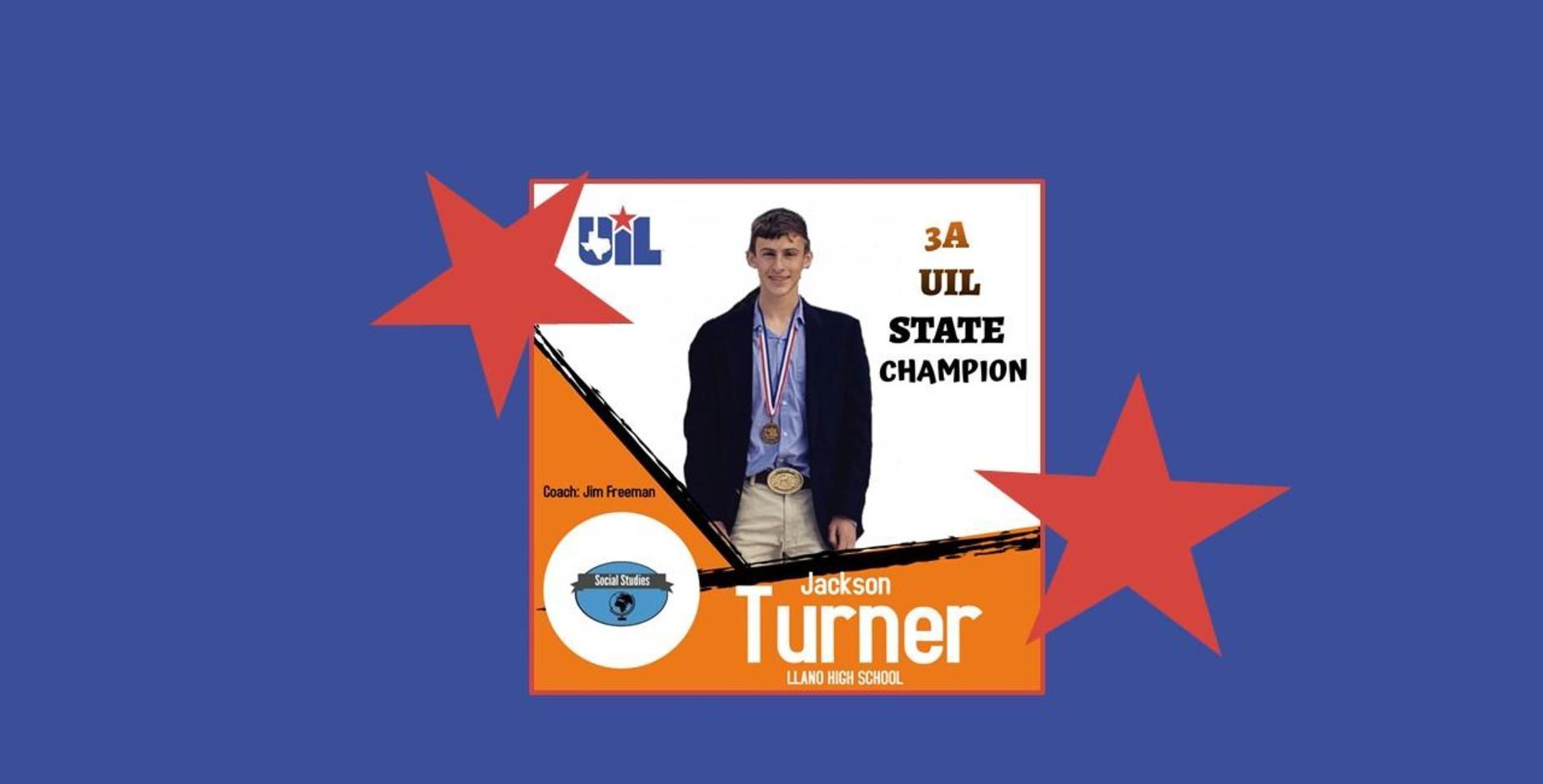 Jackson Turner State Champion UIL Social Studies