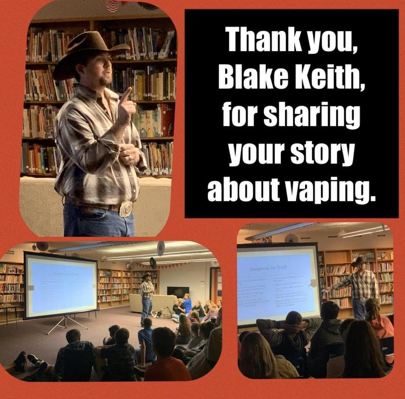 Blake Keith speaks about Vaping and Its Dangers Thumbnail Image