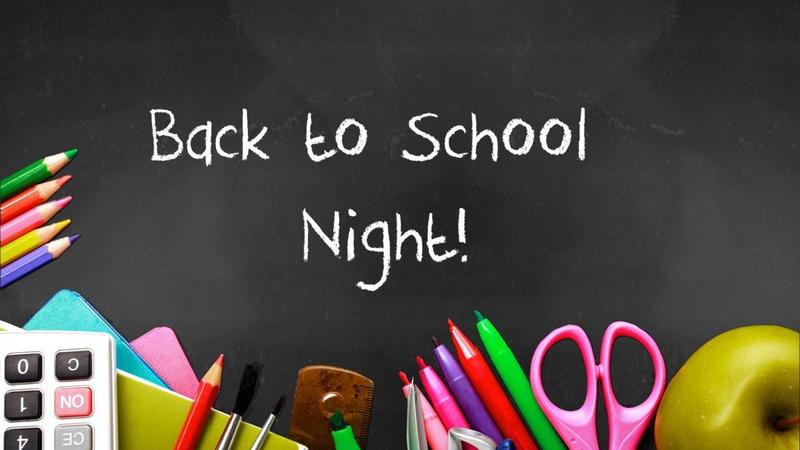 BACK TO SCHOOL NIGHT INFO Featured Photo