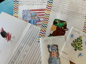 Holiday cards created by Riverbank students