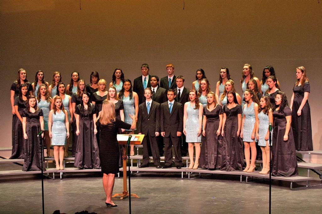 Choir singing a song