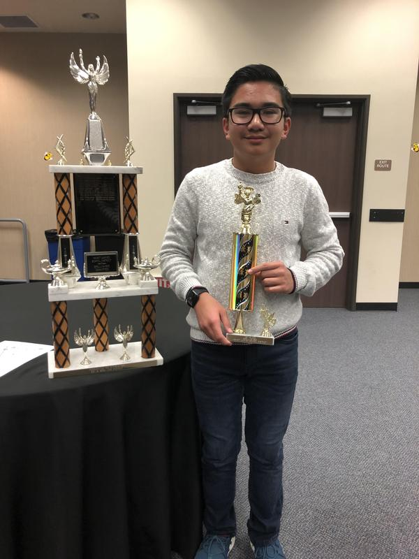 District Spelling Bee Champion - Ernie O.