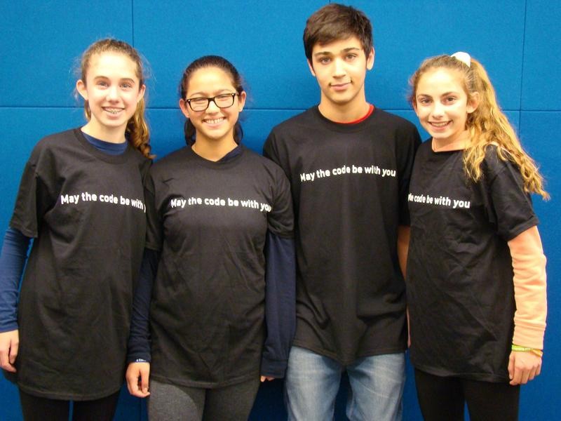Four 8th graders at Edison Intermediate School recently competed in teams of two as finalists in the 2018 New Jersey Cyber Robotics Competition at the New Jersey Institute of Technology in Newark on Dec. 14.