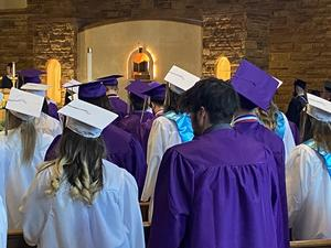 photo of the OLSH class of 2021 during graduation
