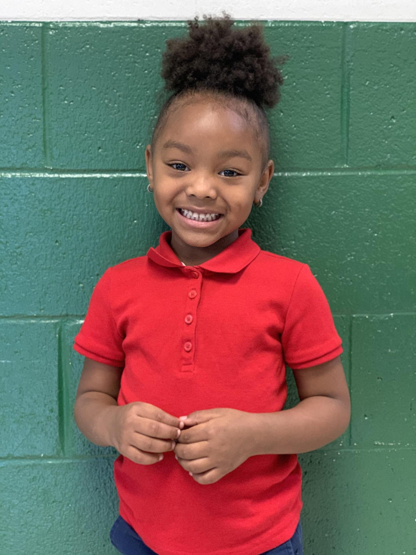 4K student Neveah Johnson