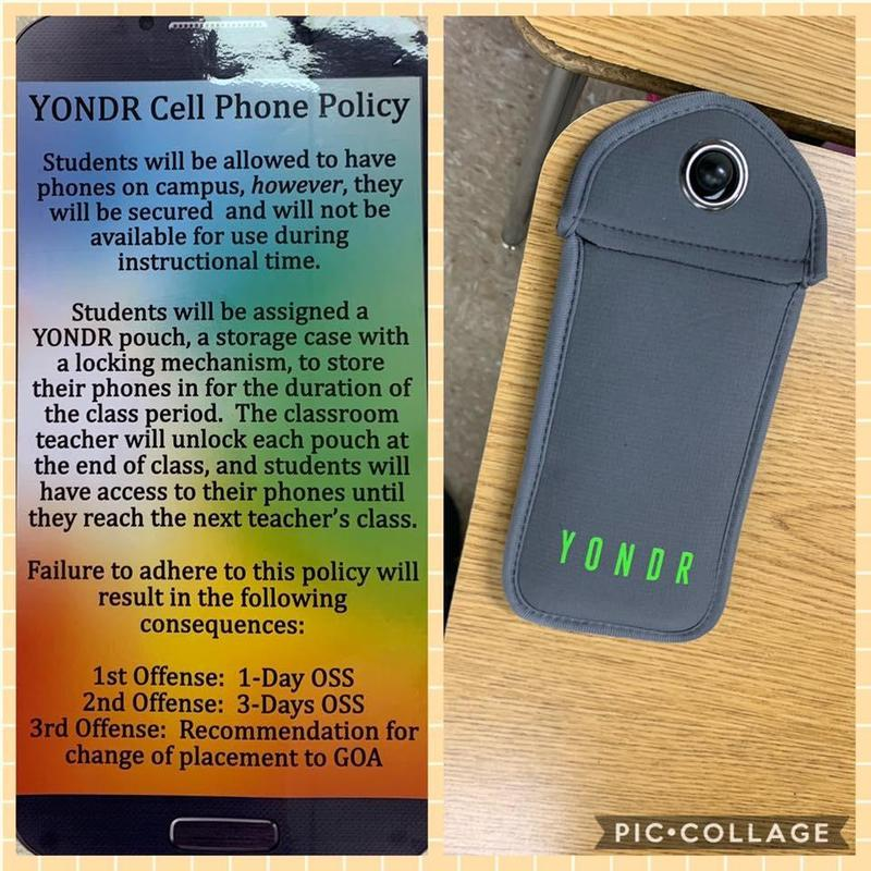 Picture of the Yonder pouch and policy as stated above