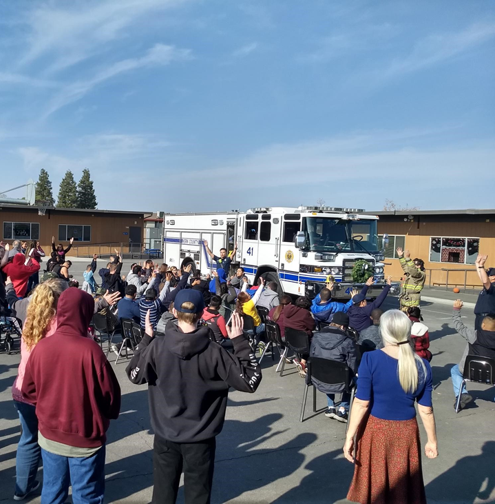 Kern County Fire Department Visits The ABLE Program