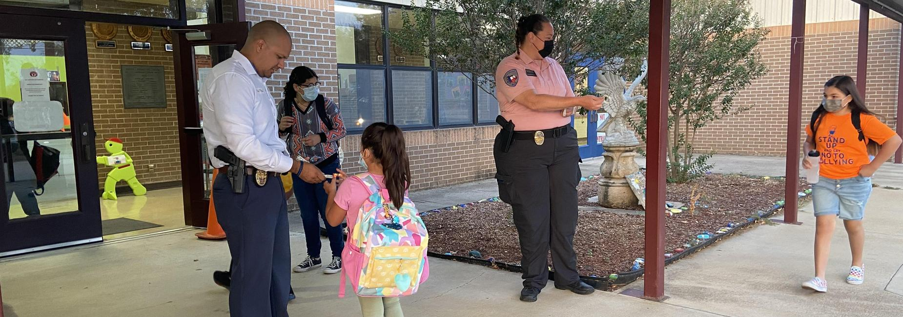 ees students and encinal pd