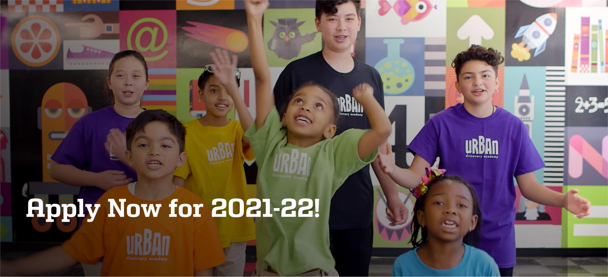 Apply Now for 2021-22 at Urban Discovery Schools