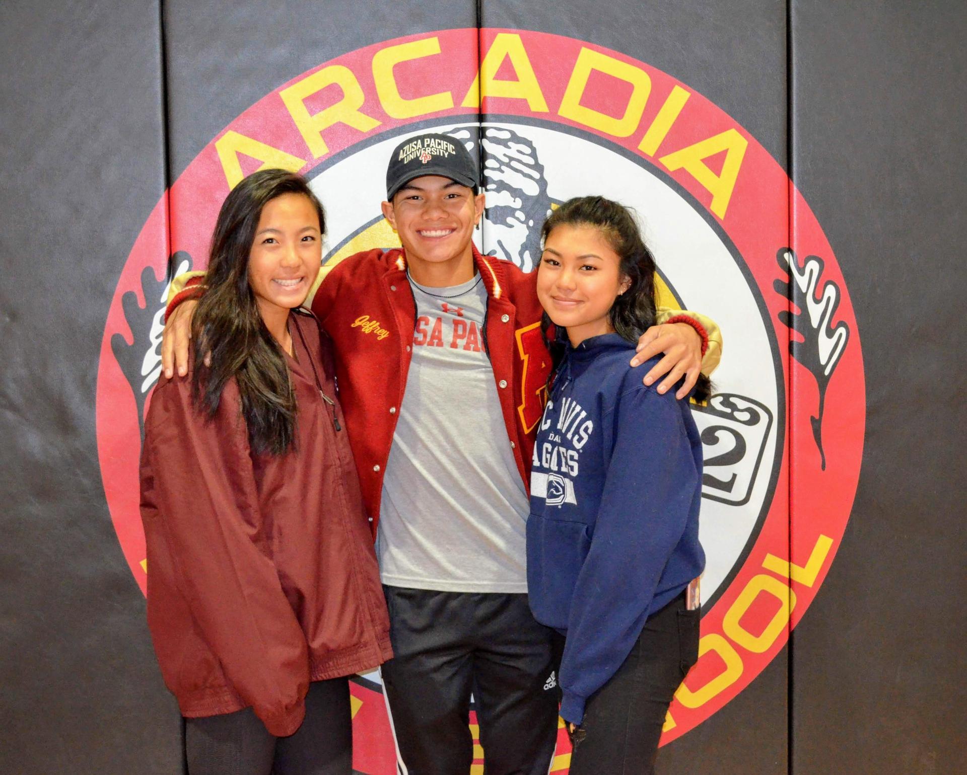Rachelle Yang, Jeremy Castillo, and Lauren Ko