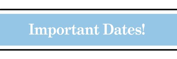 Important Dates ICA Cristo Rey