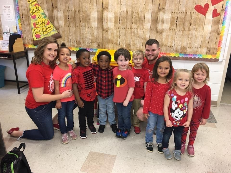 Wearing our Red for ED!