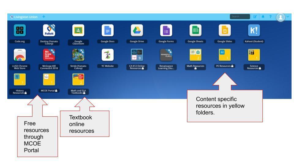 Classlink dashboard image