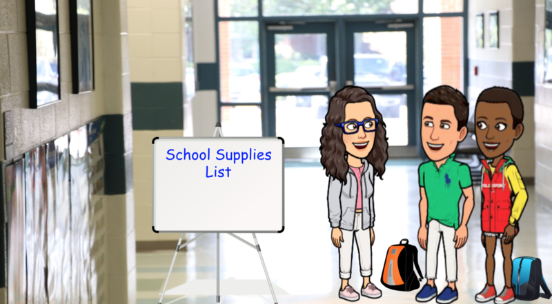 Clip art for back to school list.