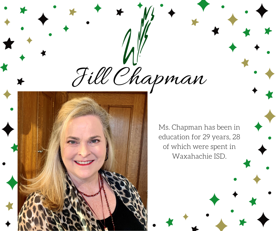 graphic announcing retirement of jill chapman