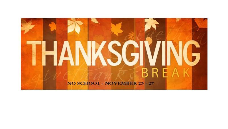 Thanksgiving Break - No School Nov. 23 -27, 2020 Featured Photo