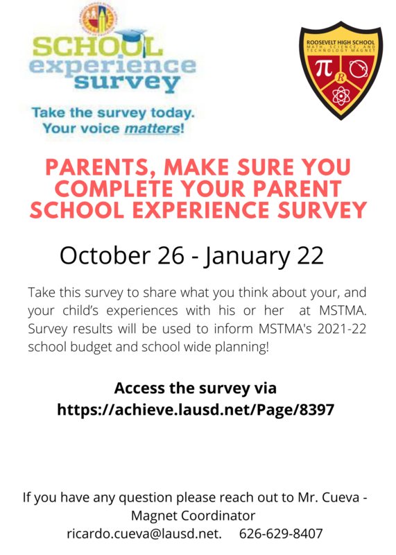 LAUSD School Experience Survey for Parents - Complete TODAY! Featured Photo