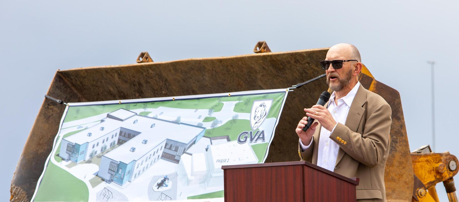 GVA Northglenn Board of Directors President, Ray Sullivan, Speaking at Groundbreaking Ceremony