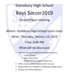 Soccer Player/Parent Meeting flyer