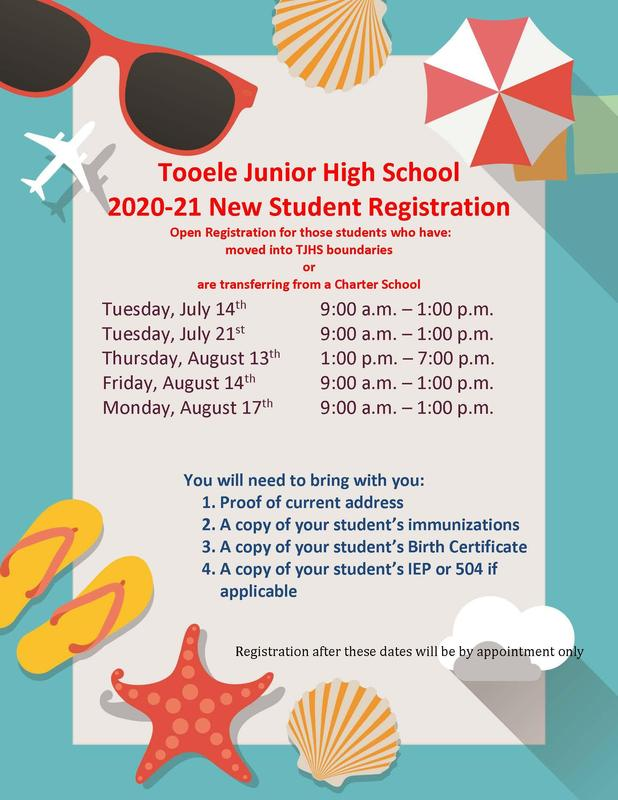 Tooele Junior High School 2020-21 New Student Registration
